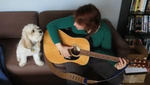 Girl and Guitar