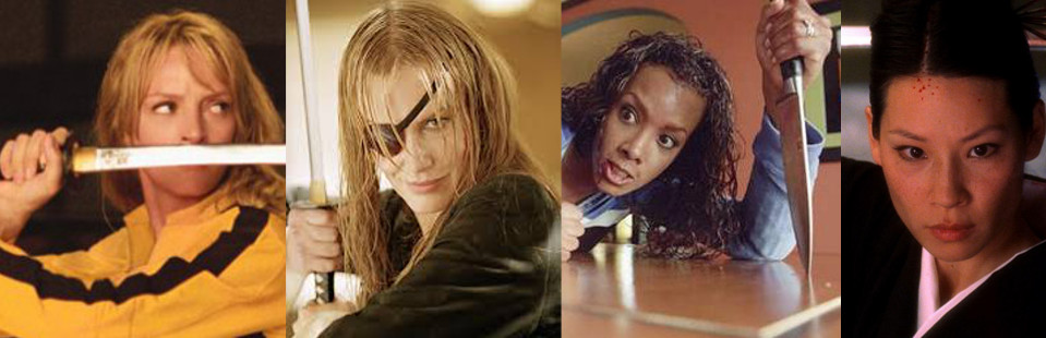 Uma Thurman, Elle Driver, Vivica Fox, and Lucy Liu from Kill Bill