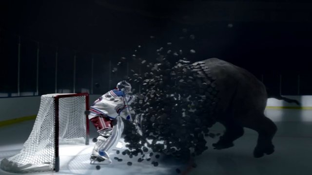 Fast, Henrik! Get a fast-acting pain reliever, fast, before that fast puck-rhino gets into the net! Fast!