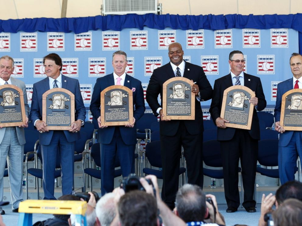 Cox, LaRussa, Glavine, Thomas, Maddux, and Torre. AKA A Summary of Baseball in the 1990's.
