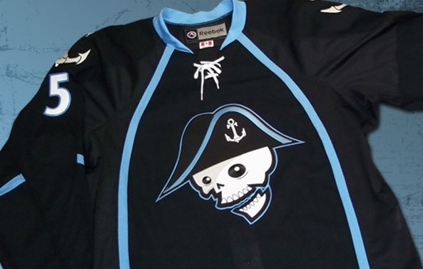 Also, can we talk about how awesome the AHL team's logo is? How can we deny the NHL this undead naval commander?