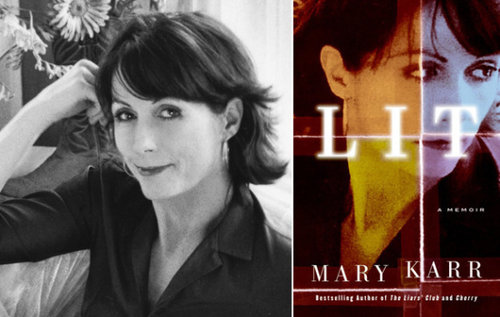 Image of Marry Karr and her memoir, Lit