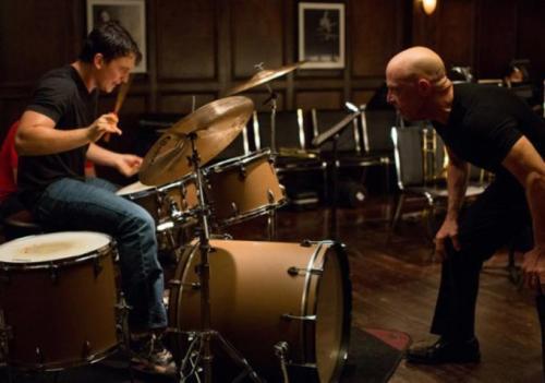 Image of Miles Teller and JK Simmons in Whiplash