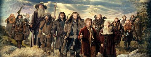 (From left: Bombur, Bifur, Dori, Gandalf the Grey, Bofur, Kili, Thorin, Bilbo, Dwalin, Balin, Fili, Nori, Gloin, Ori, Oin)