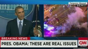 President Barack Obama Ferguson Splitscreen