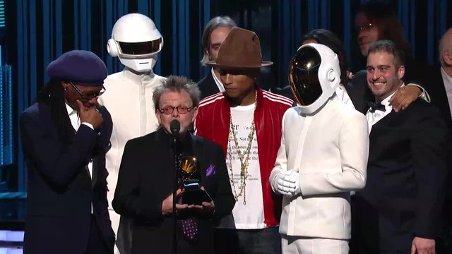 One of these people may be winning Album of the Year again, and it isn't one of the dudes in  helmets.