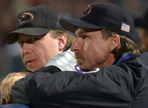 Image of Curt Schilling and Randy Johnson