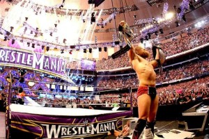 Daniel Bryan celebrates his World Heavyweight Championship win at Wrestlemania XXX. Photo Credit