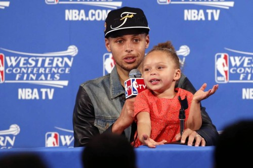 The real star of the postseason is Riley Curry. Let's be honest here.