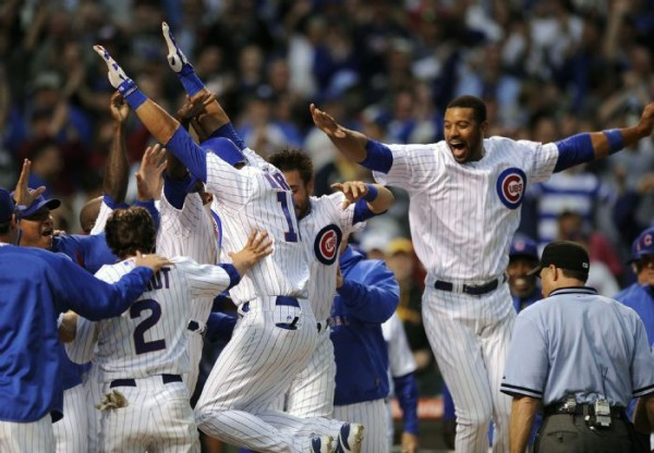 Image of Chicago Cubs Celebrating