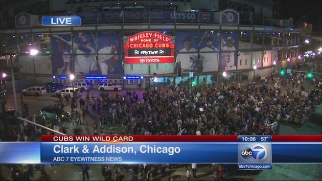 Image of Wrigley Field Wild Card Win
