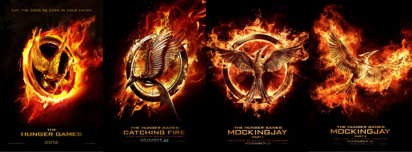 Image of The Hunger Games movie posters